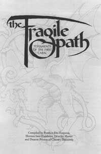 fragile path testaments of the first cabal for mage the ascension